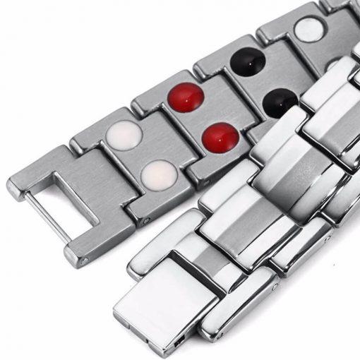 دستبند مغناطیسی تیتانیوم بایواکسل سیلور
